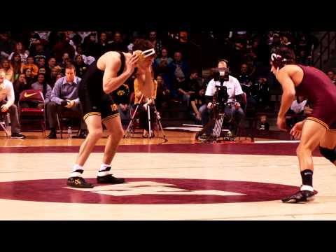 Minnesota vs. Iowa Wrestling Highlights 2013