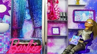How to make a Barbie Star Light  Galaxy House - Barbie Galaksi evi  DIY