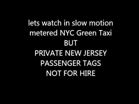 ILLEGAL taxi cab  picking up a passenger through the  UBER ride network