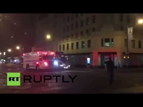 USA: Bomb squad deployed after suspicious device flung at NYPD vehicle
