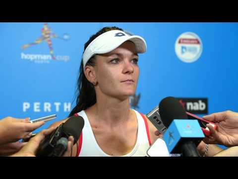 Agnieszka Radwańska press conference (final) - Hopman Cup 2015