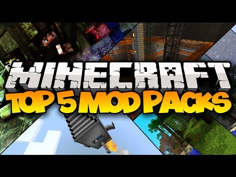 TOP 5 MINECRAFT MOD PACKS! (Best Minecraft Mod Packs) 1.9