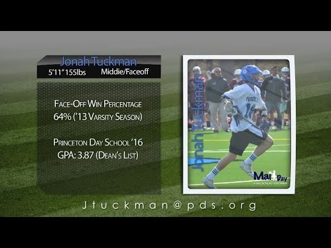 Jonah Tuckman 2013 Lacrosse Highlights- Princeton Day School '16