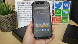 Review Unboxing Oukitel WP2 IP68 Rugged Phone 10000mAh 6.0 inch FHD+ 4GB RAM 64GB ROM