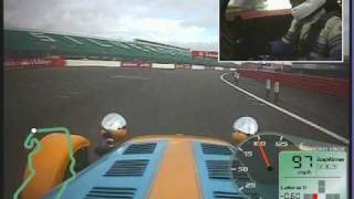 Caterham pulling 1.35g and sliding at Silverstone