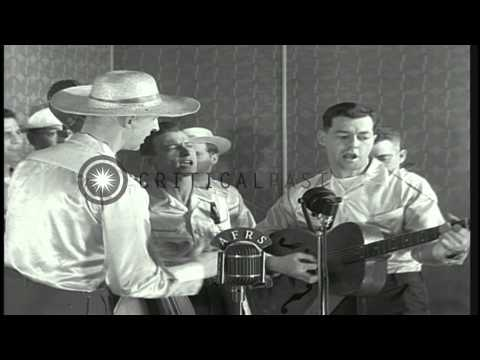 Signal Corps Officers sing Heartbreak Ridge during a Blood Donation...