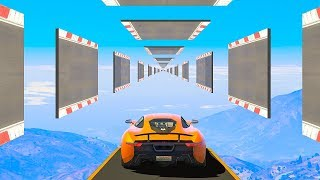 WORLD RECORD ENDLESS TRACK LEVEL! - GTA 5 Funny Moments