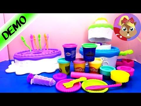 Play Doh türkçe Dev Pasta  Paketi - Oyun hamuru ile pasta ve seker yapimi - Play Dough Cake Mountain