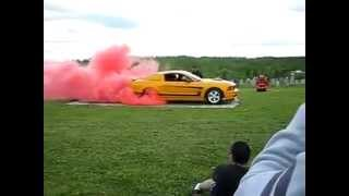 Ford Mustang Pink Burnout