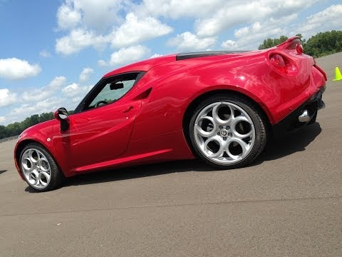 2015 Alfa Romeo 4C -- First Drive & Shake Down at Chrysler Chelsea Proving Grounds