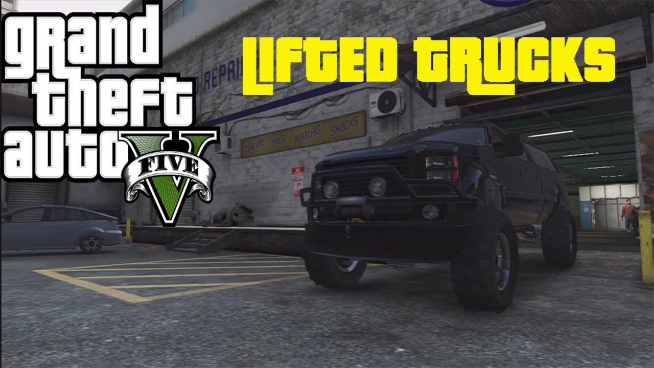 GTA 5 LIFTED PICKUP TRUCK CUSTOMIZATION - YouTube
