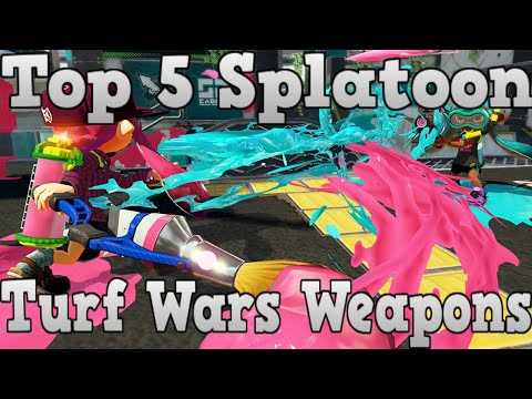Top 5 Best Turf Wars Weapons Splatoon #1