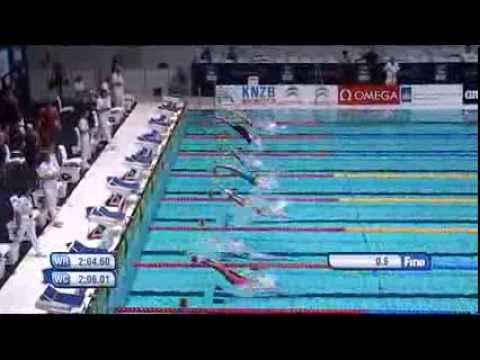 World Record Katinka Hosszu - Fina Swimming World Cup Eindhoven 2013 - 200m IM women - heat 2