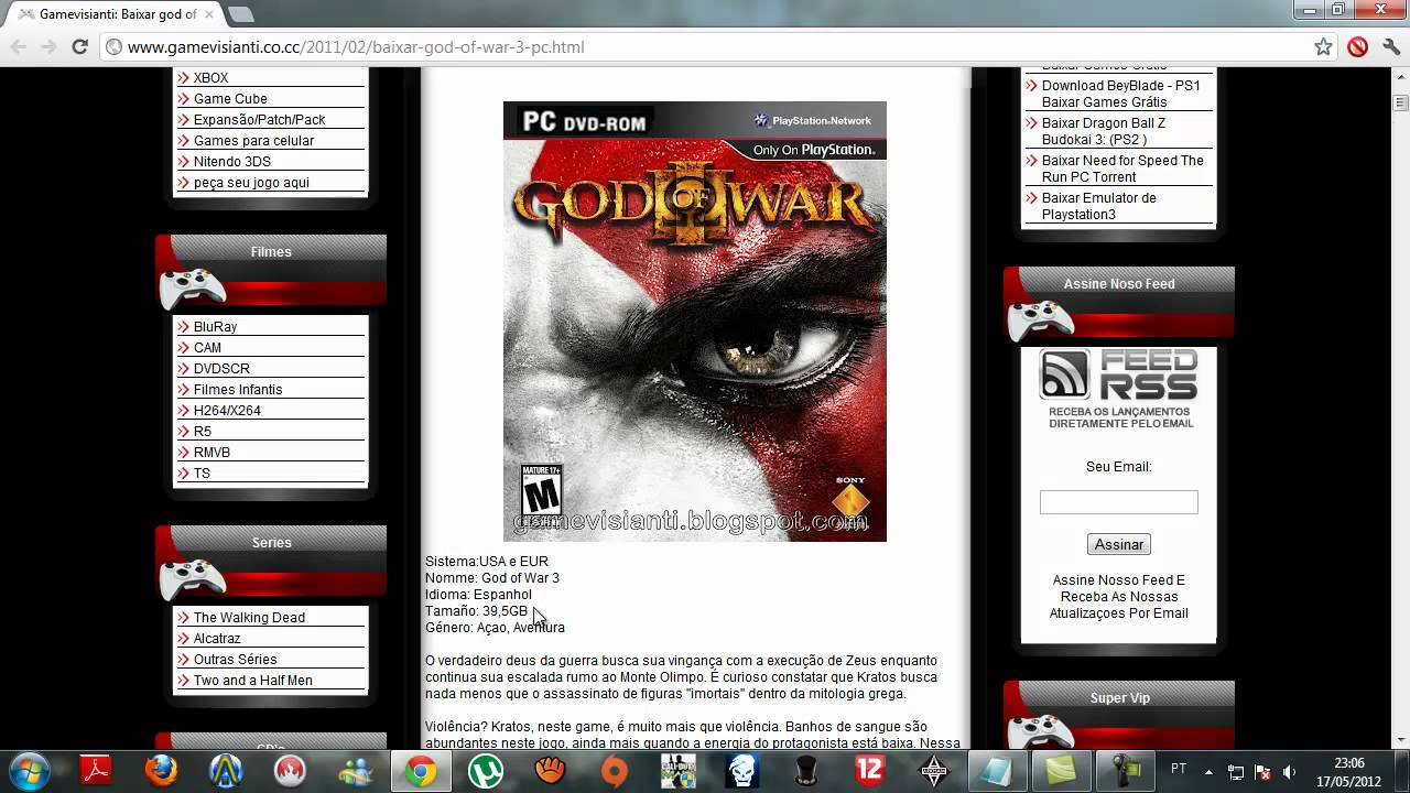 god of war 3 iso download for ps3 emulator