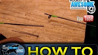 How to repair and reinforce a broken fishing rod for How to repair a broken fishing rod