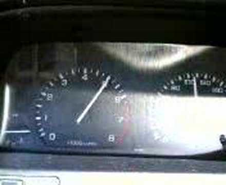 My Rover 214 SEi performing 0-140 mark.