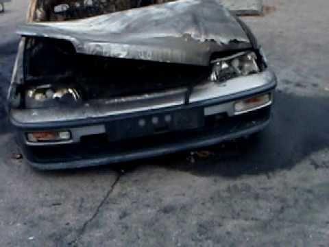 Ponkes the parkissa tuhopoltettu auto