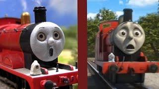 James Shed CRASH - Fastest Red Engine Remake Comparison - Thomas & Friends HO/OO