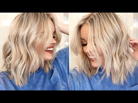 HOW TO EASY WAVES TUTORIAL -  Short to Medium Length Hair - YouTube