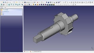 FreeCAD Mechanical drawing H20A