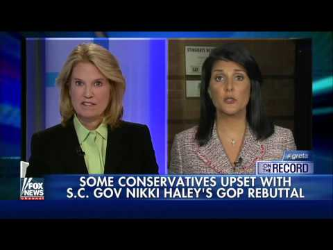 Gov. Nikki Haley addresses her swipe at Trump