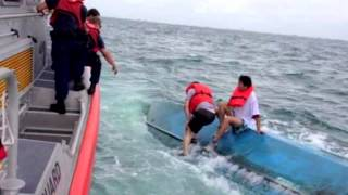 Four rescued from capsized vessel off Siesta Beach, Fla.