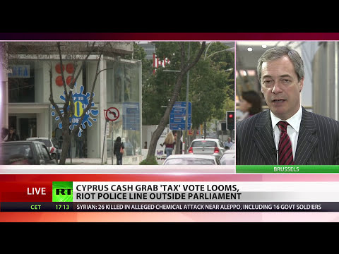 Farage: EU wants to steal money from Cypriots bank accounts