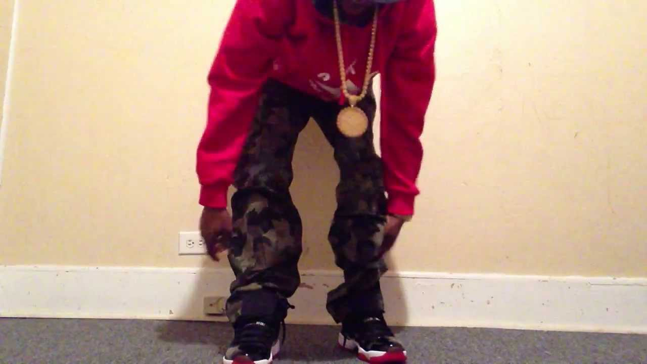 Bred 11u0026#39;s on feet with outfit - YouTube