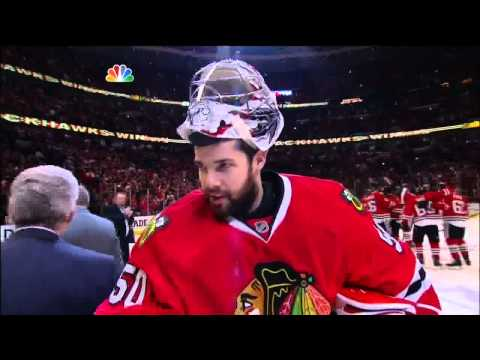 Brent Seabrook OT goal 2-1, handshakes. May 29 2013 Detroit Red Wings vs Chicago Blackhawks NHL