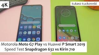 Motorola Moto G7 Play vs Huawei P Smart 2019  ❗❗❗ | Speed Test | Snapdragon 632 vs Kirin 710