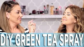 How To Make Green Tea Spray - Your Skin