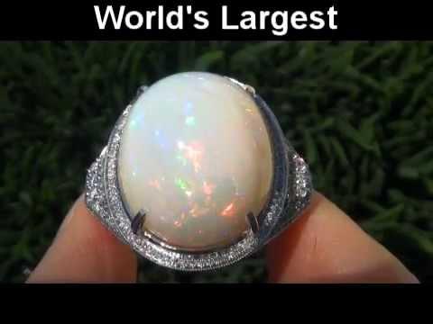 World S Largest Welo Mined Ethiopian Opal Amp Diamond Ring