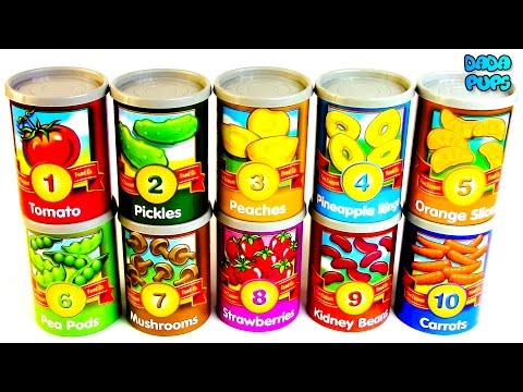 Learn To Count  1-10 With Fruit|Learn To Count With Fruit and Vegetables|Numbers 1-10 With Food