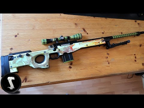 How to Make a 1:1 AWP Dragon Lore IRL (easy)