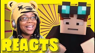 REACTING TO Funny animation by DanTDM