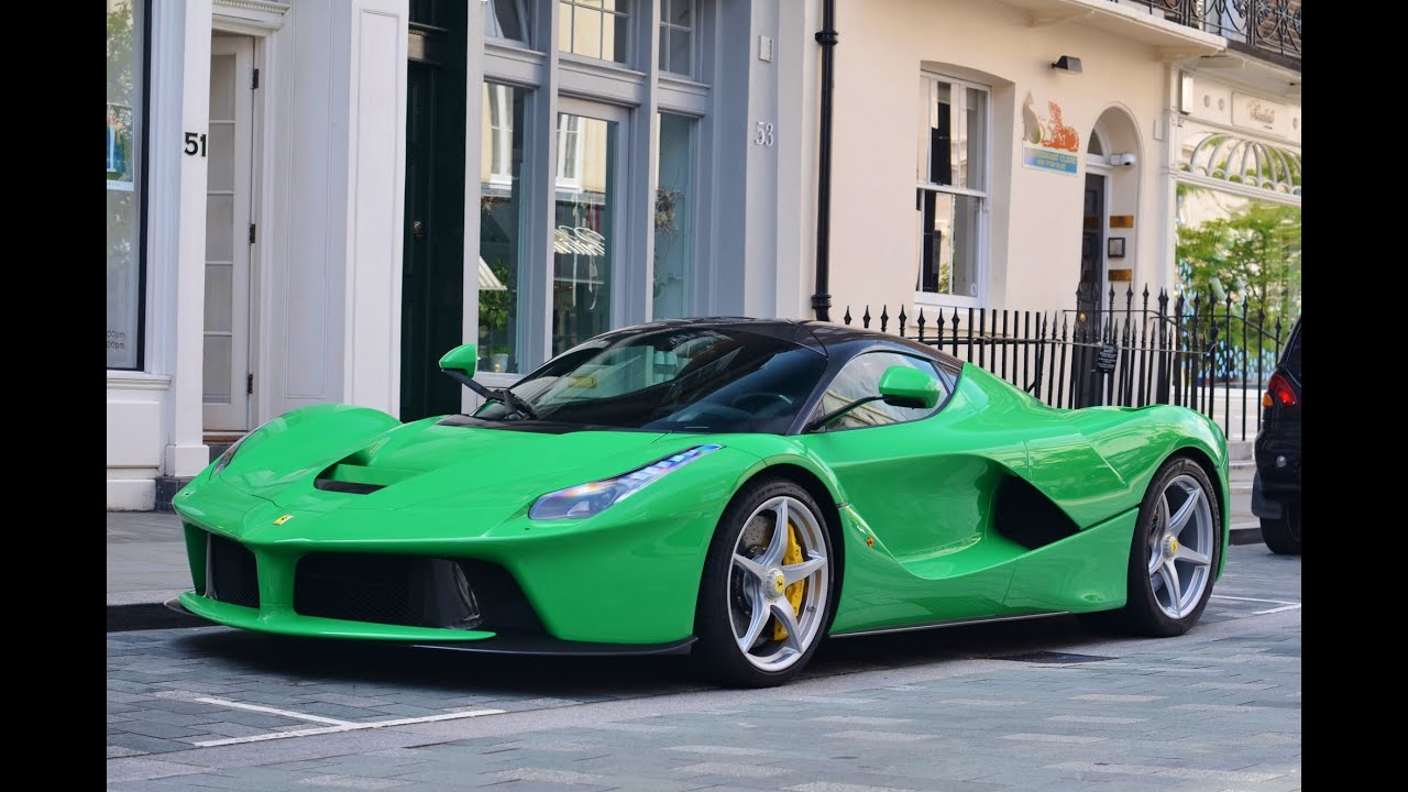 Green Ferrari Laferrari In London Youtube