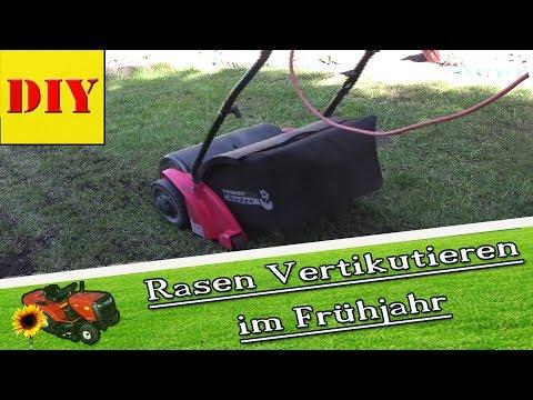 ► Rasenpflege Für Den Garten Im Frühjahr ! Rasen Mit Dem Vertikutierer, Vertikutieren