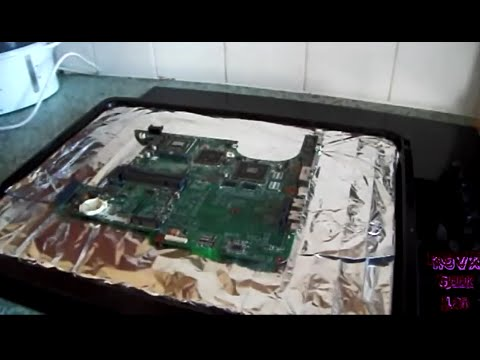 Repairing laptop Video Card by baking in the oven (HP Pavilion dv9000)