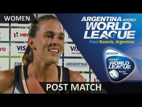 Carla Rebecchi Post Match Interview #HWL2015 #Rosario