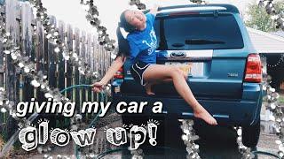 giving my car a glow up + car tour!!