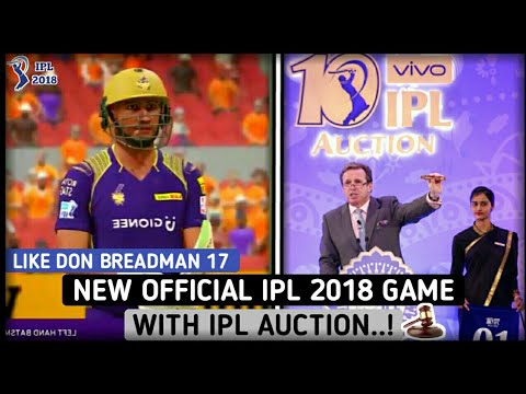 NEW OFFICIAL HD IPL 2018 GAME WITH IPL AUCTION FOR ANDROID | BEST IPL GAME 2018 FOR ANDROID