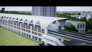 Dhaka Metro Rail MRT Line-6 with English commentary
