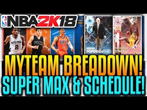 NBA 2K18 MyTEAM SUPER MAX MODE BREAKDOWN, ALL TIME DOMINATION, SCHEDULE MODE, & DIAMOND COACHES!