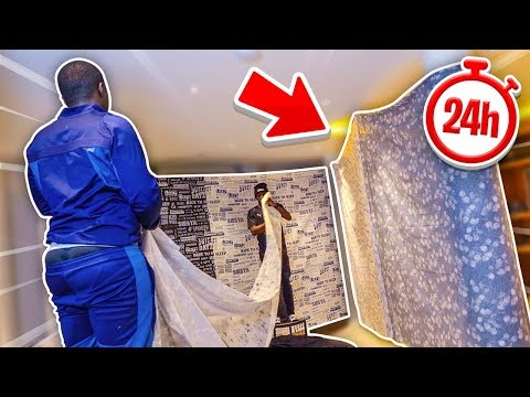 BUILDING A GIANT 24 HOUR PILLOWFORT IN MY FLAT!