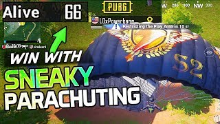 WIN WITH THIS SNEAKY PARACHUTE STRATEGY - PUBG Mobile