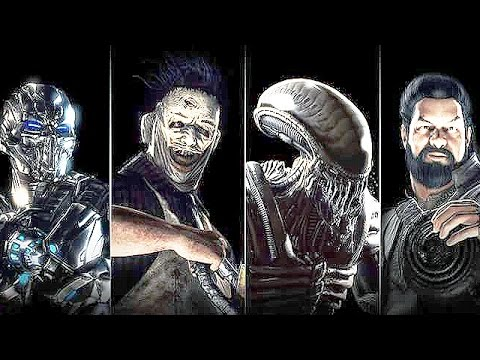 Mortal Kombat X Alien, Leatherface, Triborg, Bo Rai Cho Fatality Fatalities Brutalities Compilation