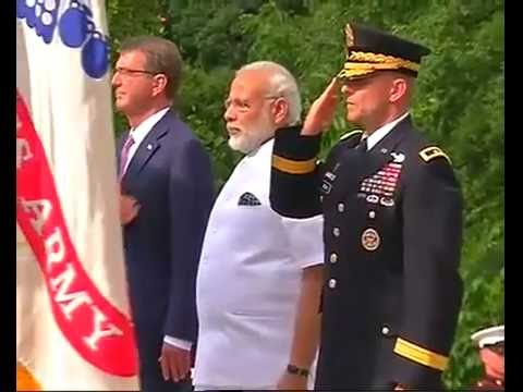 PM Modi in US: Wreath laying at tomb of unknown Soldier and Space Shuttle columbia memorial