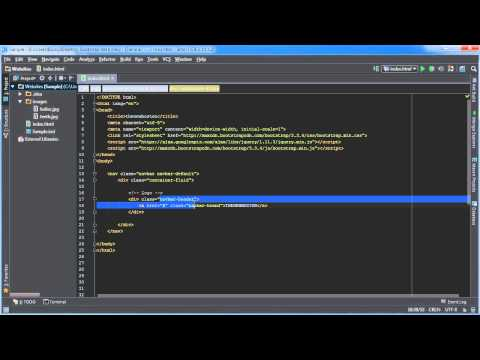 Bootstrap Tutorial for Beginners - 6 - Navbar