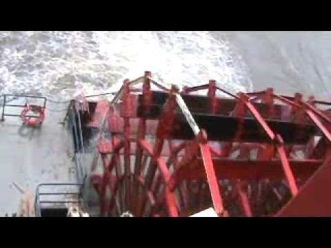 American Queen Steamboat Paddle Wheel Action