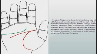 "HEART LINE, ""LINE OF EMOTIONAL INTELLIGENCE"" 